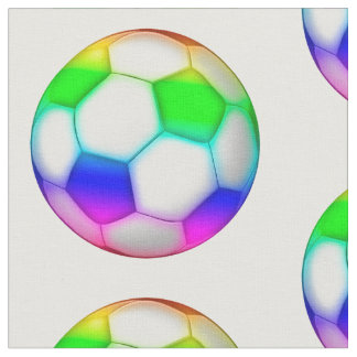 Colorful Soccer Balls Pattern | Sport Gifts Fabric