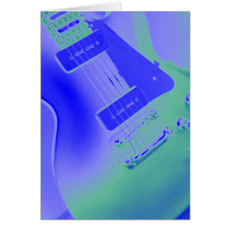 Colorful Sounds Electric Guitar Greeting Card