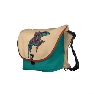 Colorful South Seas Art Messenger Bag