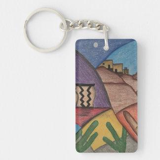 Colorful Southwest Desert Rainbow Keychain