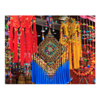 Colorful souvenirs in a shop, China Postcard