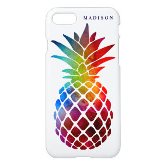 Colorful Space Pineapple Stylish Tropical Zazzle iPhone 8/7 Case
