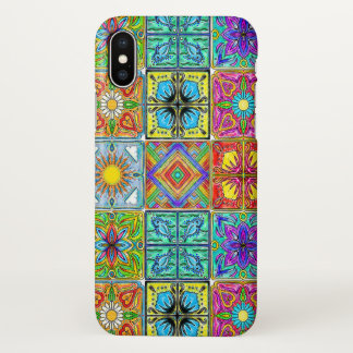 colorful spanish tile iphone case