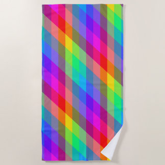 Colorful Spectral Prisms Beach Towel