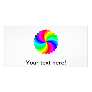 Colorful spinning pallette photo greeting card