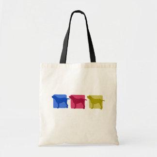 Colorful Spinone Italiano Silhouettes Tote Bag