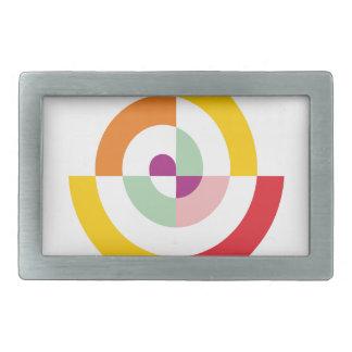 Colorful Spiral Belt Buckles