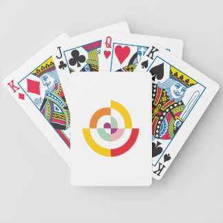 Colorful Spiral Bicycle Playing Cards