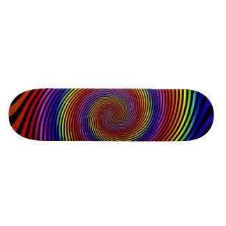 Colorful Spiral Design: Skateboard