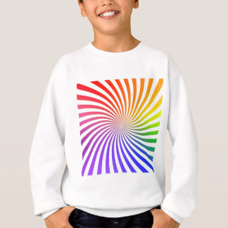 Colorful Spiral Design: Sweatshirt