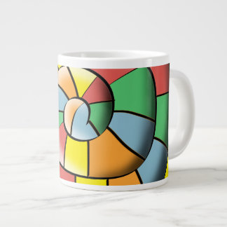 Colorful spiral large coffee mug