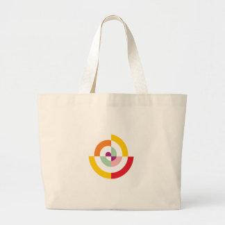 Colorful Spiral Large Tote Bag