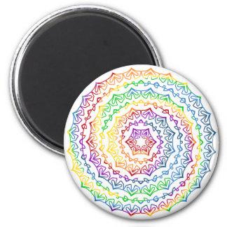 Colorful Spiral Mandala Graphic Magnet