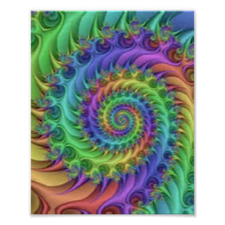 Colorful Spiral Pattern Print Design