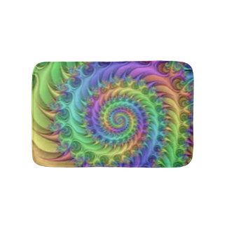 Colorful Spiral Pattern Print Design Bath Mat