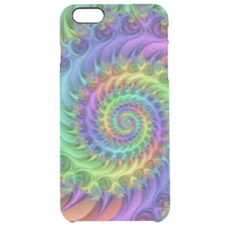 Colorful Spiral Pattern Print Design Clear iPhone 6 Plus Case