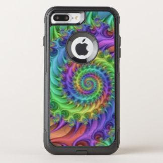 Colorful Spiral Pattern Print Design OtterBox Commuter iPhone 8 Plus/7 Plus Case