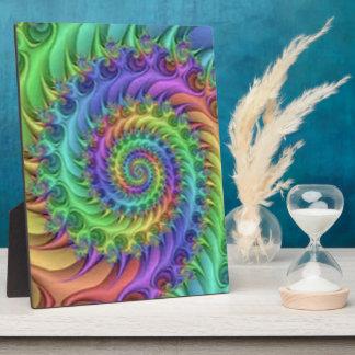 Colorful Spiral Pattern Print Design Plaque