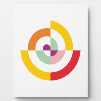Colorful Spiral Plaque
