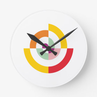 Colorful Spiral Round Clock