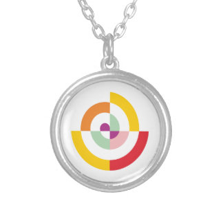 Colorful Spiral Silver Plated Necklace