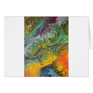 Colorful Spirals Abstract Painting Card