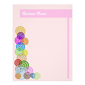 Colorful Spirals Letterhead Design