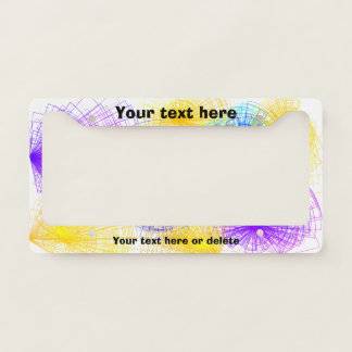 Colorful Spirals License Plate Frame