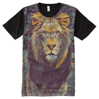 Colorful Spirit Lion Ghost Graphic Art