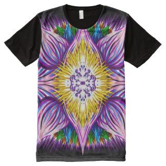 Colorful Spiritual Lotus Mandala Indie Gouache Art