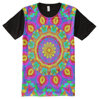 Colorful Spiritual Wheel Mandala Indie Art