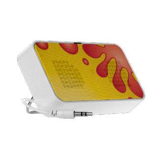 Colorful splash design notebook speakers