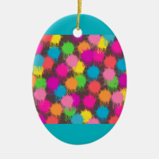 Colorful Splash Easter Egg Ornament