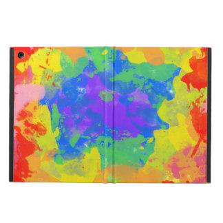 Colorful splash of tie dye watercolor casing iPad air cases