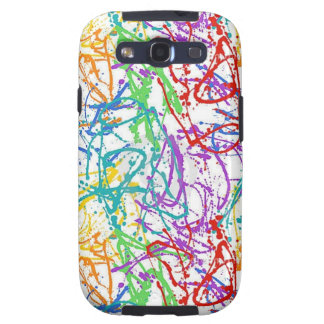 Colorful Splatter Paint Pattern Samsung Galaxy S3 Covers