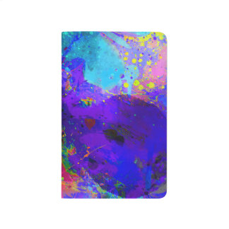 Colorful Splatter Psychedelic Butterfly Journal