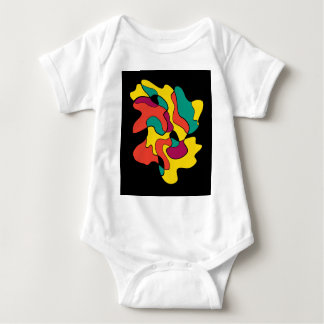 Colorful spot baby bodysuit
