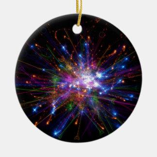 Colorful spot ceramic ornament