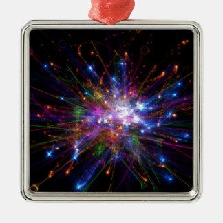 Colorful spot metal ornament