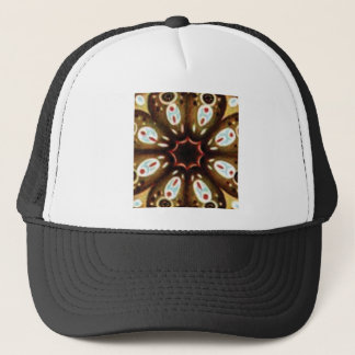colorful spot pattern trucker hat