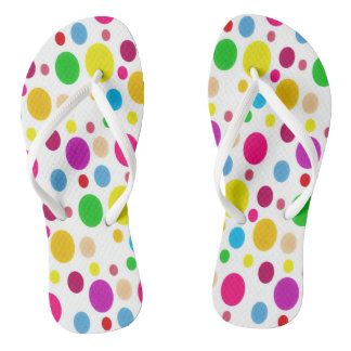 Colorful Spots Flip Flops