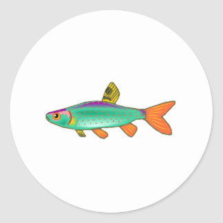 Colorful Spotted Fish Sticker