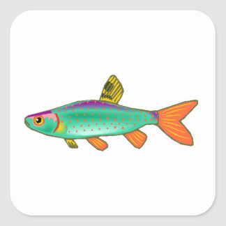 Colorful Spotted Fish Stickers