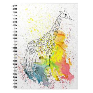Colorful Spotty Giraffe (Kim Turnbull Art) Notebooks