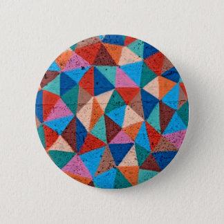 Colorful Sprayed Graffiti Triangles 2 Inch Round Button