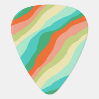 Colorful Spring Abstract Pattern Guitar Pick