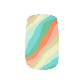 Colorful Spring Abstract Pattern Minx Nail Art