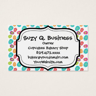 Colorful Spring Easter Eggs Pattern Business Card