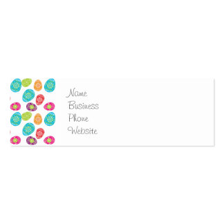 Colorful Spring Easter Eggs Pattern Gifts Business Cards