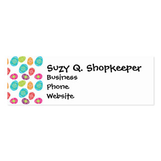 Colorful Spring Easter Eggs Pattern Gifts Business Card Templates